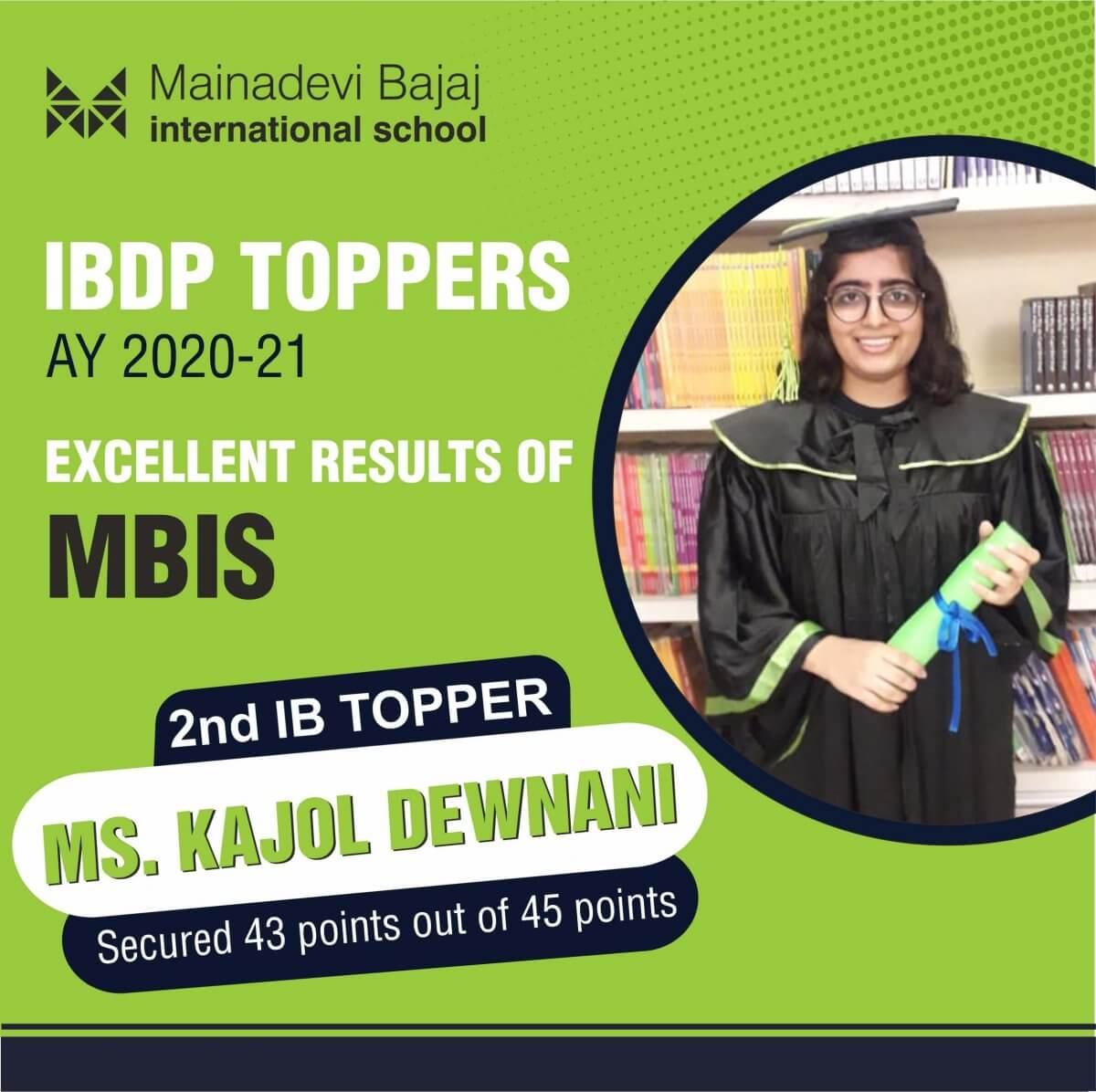 IBDP 2nd Topper Kajol Devnani