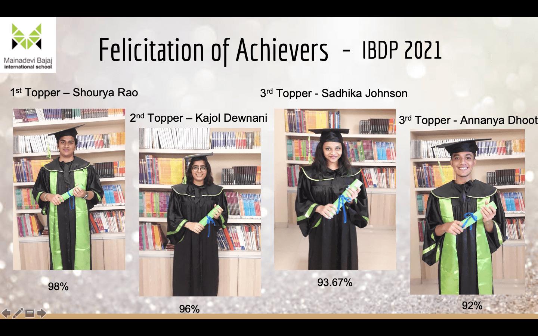 Felicitation of Achievers IBDP 2021