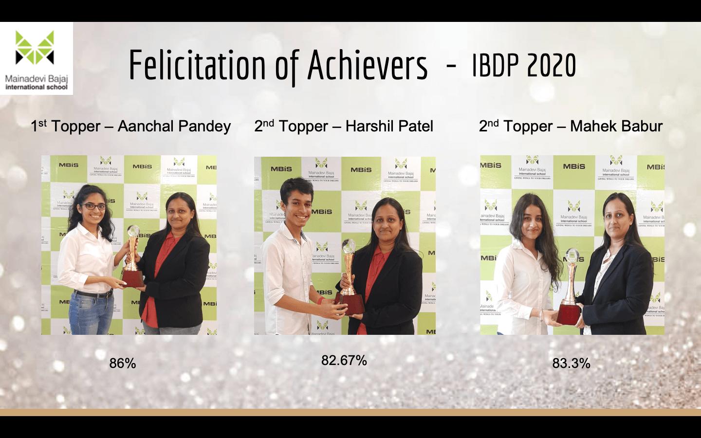 Felicitation of Achievers IBDP 2020